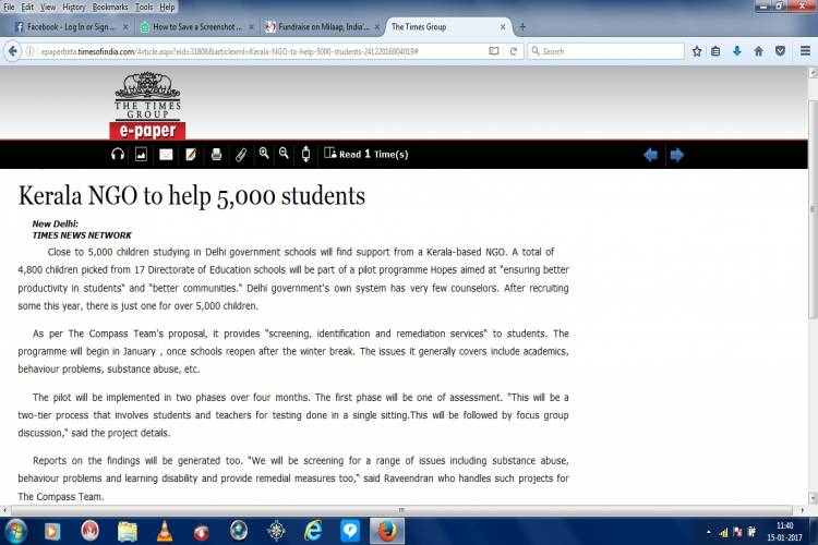 Help my organiztion assess 5000 govt. school children - story -1