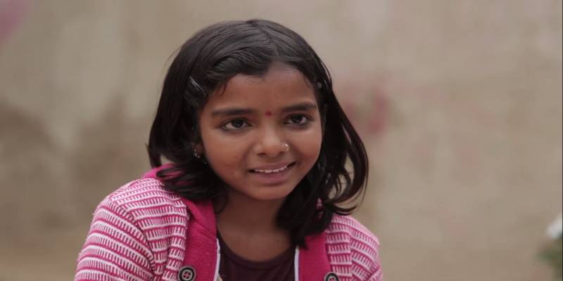 Impact Guru - Jyoti, a village girl during an interview