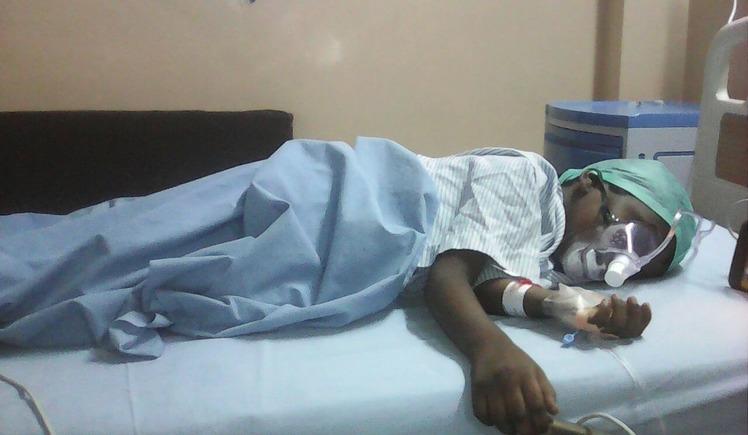 Impact Guru - Pawan on the hospital bed after treatment