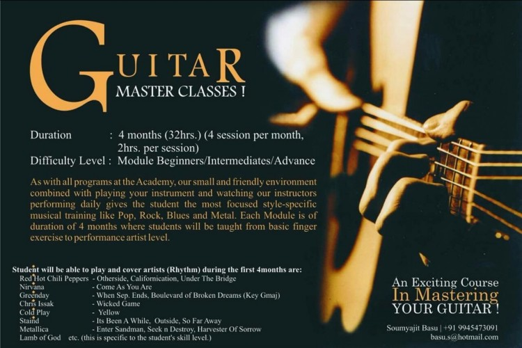 Help Me Raise Funds For My Guitar Institute