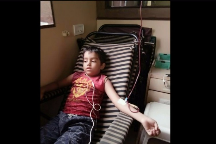 Help 6-year old Krishna for Umbilical Cord Blood Transplant