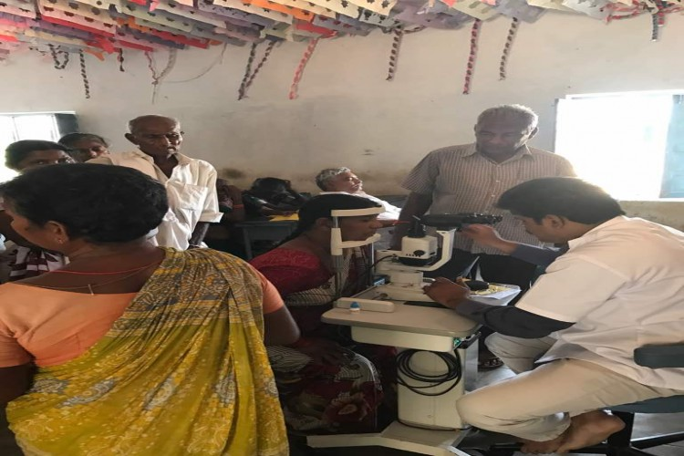 Conducting eye camps in villages and schools