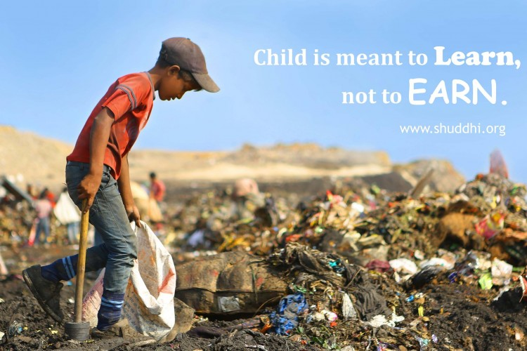 Send Child Labour Rag-Pickers from Indian Waste Dumpsites to School