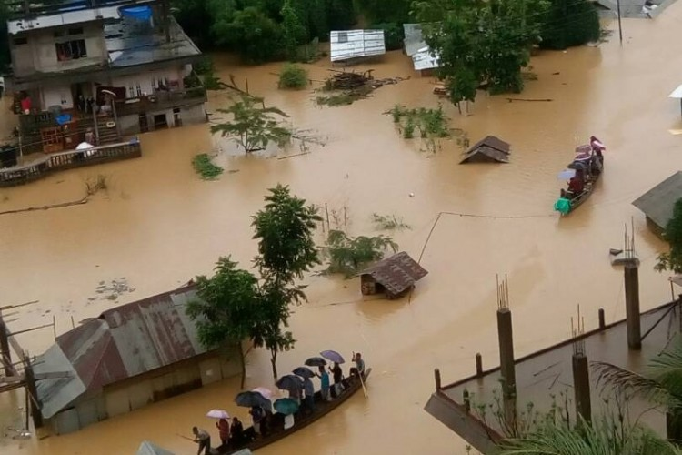 Help for Flood victims in Northeast India in June 2017