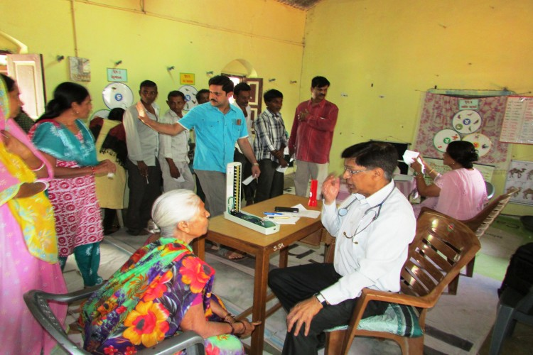 Medical camp for the under privileged in remote villages to support medical consultancy and medicine