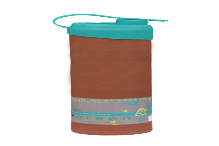 Natural  clay water bottle with water tight feature