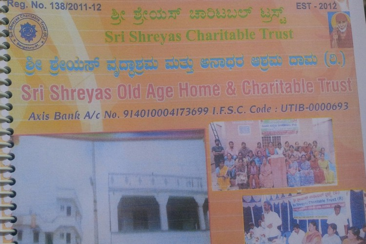 SRI SHREYAS CHARITABLE TRUST SINCE 2012