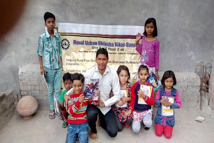 Education for rural poor and urban slum areas children by rural urban Shiksha vikas sansthan 1