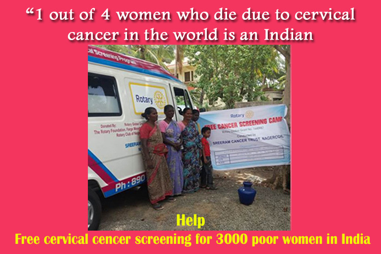 Help Free Cancer Screening for 3000 Poor Women