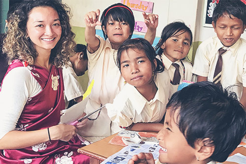 An American student travelled all the way to Shillong to make a difference